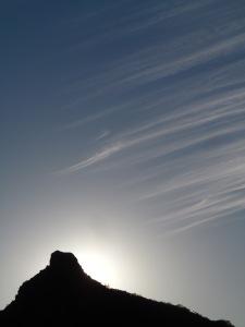 Sun over Piggy Rock