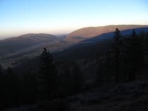 Dusk --Cuddy Valley from McGill
