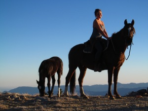 Aria, Ella, and filly Hokuleia, top of the world . . .