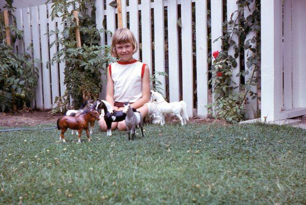 Little Dawn with Breyer Horses