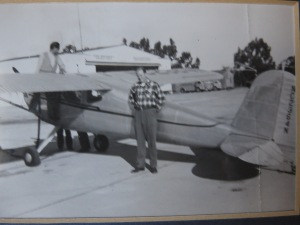 Dad with an earlier plane.