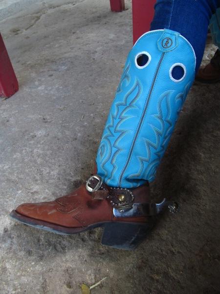Paris' Blue Boot