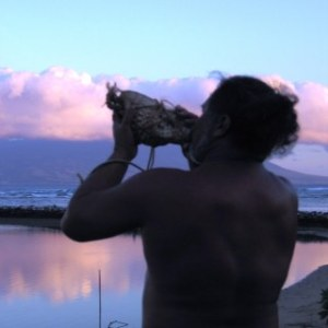 Molokai ~ Leimana blowing conch shell