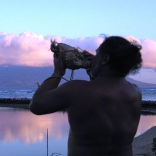 Molokai ~ Leimana blowing conch shell